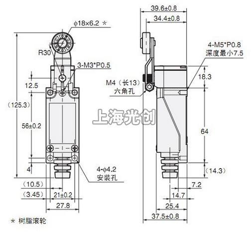 d4v-8104z行程开关的接线图