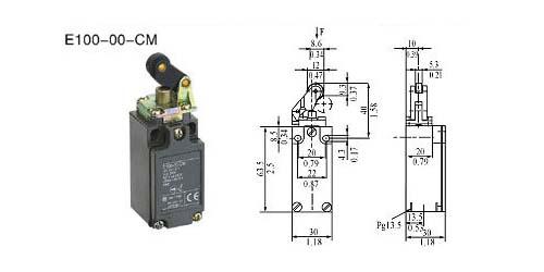 e100-00-cm行程开关的接线图