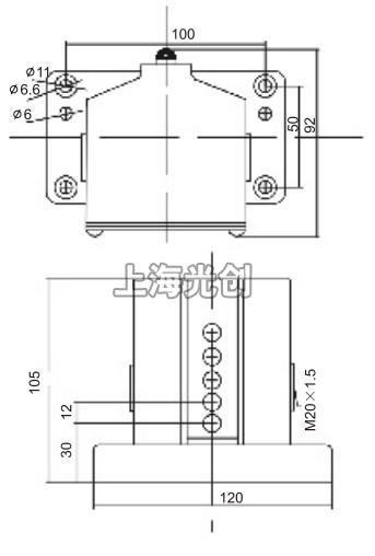 该产品适用于交流50~60hz,ac380v,dc220v的控制电路中,作为控制,限位