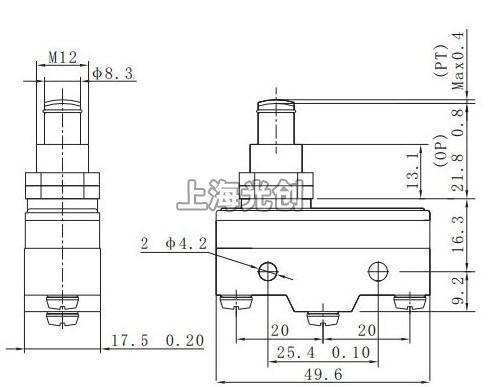 z-15gq-b微动开关的接线图;