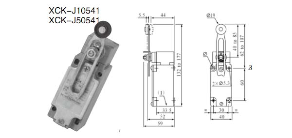xck-j10541行程开关的接线图