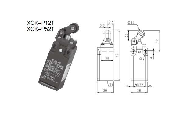 xck-p121行程开关的接线图