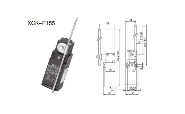 XCK-P155行程开关外壳采用特种合金金属,适用于交流50~60HZ:AC380V,DC220V,交流10A的控制电路中,作为机床、机械的自动控制、限制运动,传动机构动作或程序控制之用。 能工作在-25~+40的环境温度中;海拔2000m;防护等级IP65;符合IEC337-1,GB14048.5-2001标准 双回路型限动开关,价格经济 外壳由特种合金金属组成,结构坚固耐用 体积小,可防水、防油 内藏微动开关有双簧片结构,机械寿命更长 具较大之OT动作 容易配线之导管设计 引动器种类多,方便使用,可随